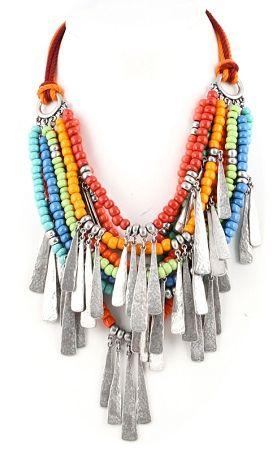 Déclaration Collier Choker Bib Shell Gypsy Boho Hippie Festival Fashion Jewelry
