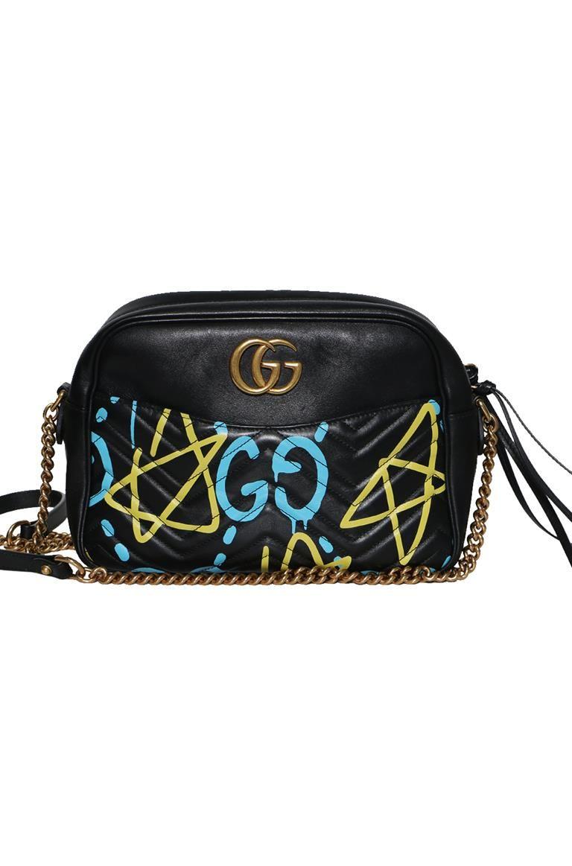 a9b26c49ecc Authentic Preowned Gucci Calfskin  Gucci Ghost Print  Medium GG Marmont  Shoulder Bag