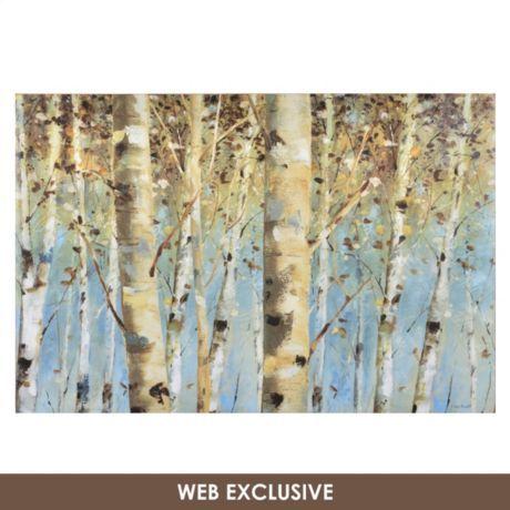$50. White Forest Canvas Art Print | Kirkland's
