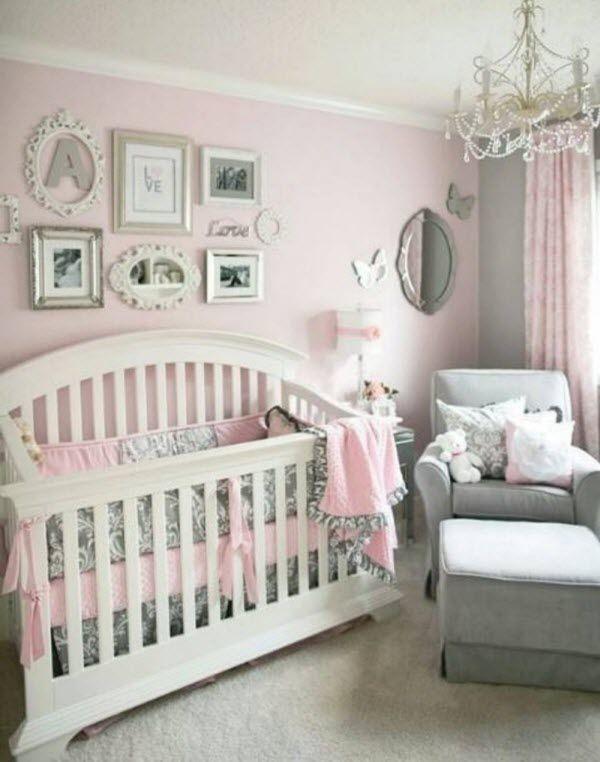 idee deco chambre rose gris bebe | chambre enfants | Pinterest ...