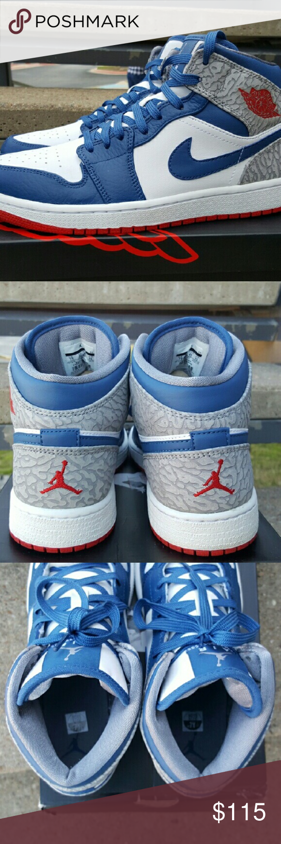 best sneakers 98986 0e536 Air jordan retro 1s true blue cement rare 7y Great shape normal wear and  tear normal air jordan Shoes Sneakers
