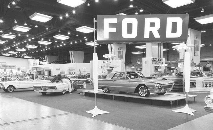 Two New 1964 Thunderbirds On A Ford Dealer S Showroom Floor With Images Car Dealership Retro Cars Car