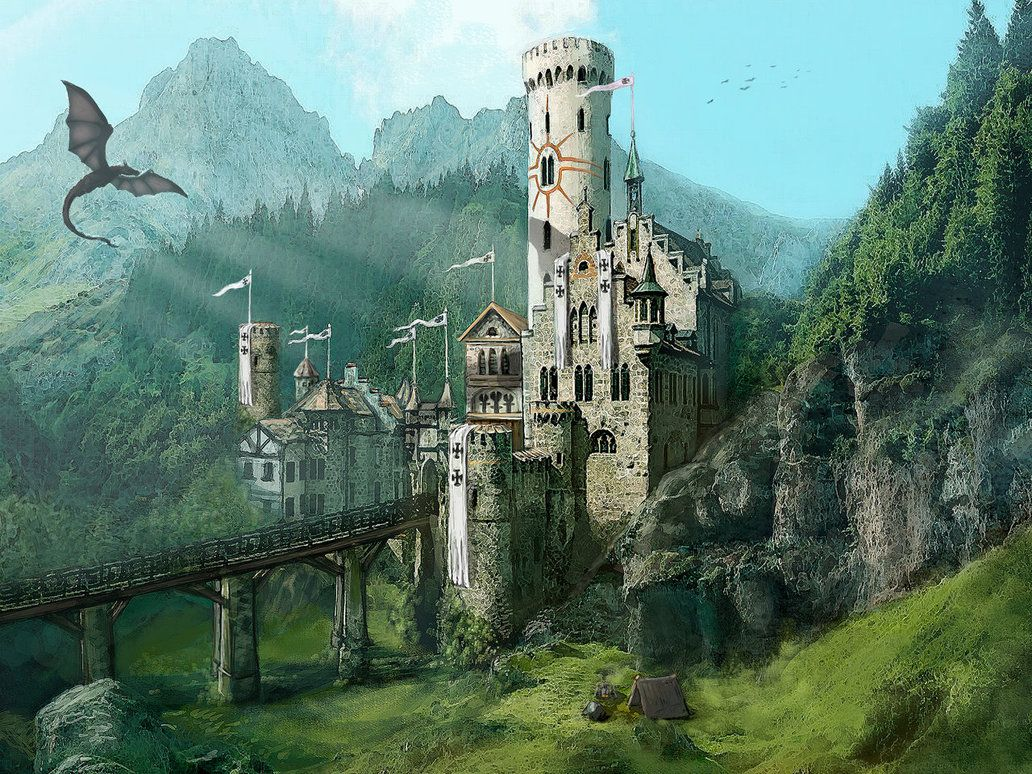 Castle In The Mountains By Ktornehave Fantasy Castle Fantasy Art Landscapes Fantasy City