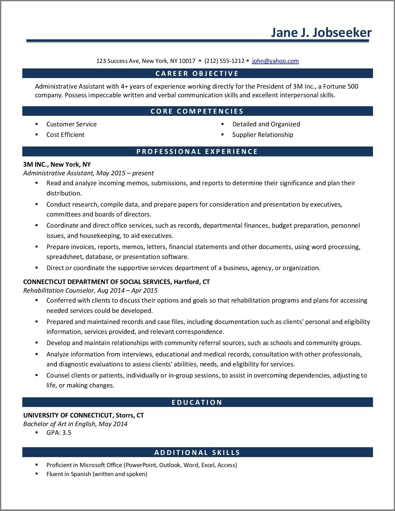 One Page Resume Template Resume Downloads in 2020 One