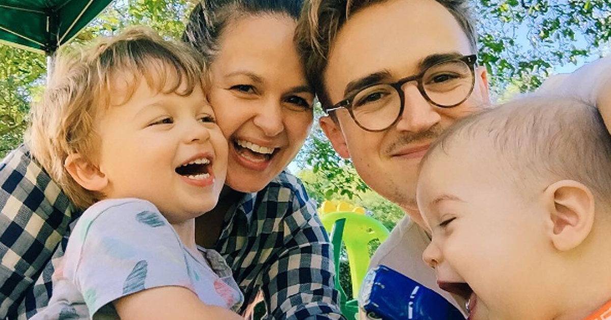 Tom Fletcher uses son Buzz as weights for adorable workout