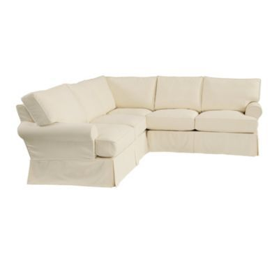 Love this sectional Davenport 3Piece Sectional Slipcover