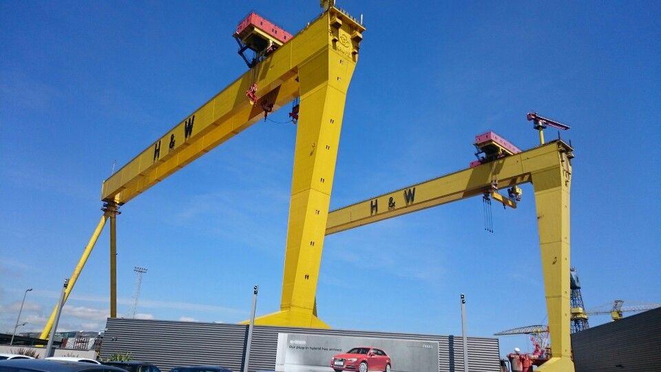 Samson & Goliath cranes.. Belfast Titanic quarter.. H&W Stunning!!!