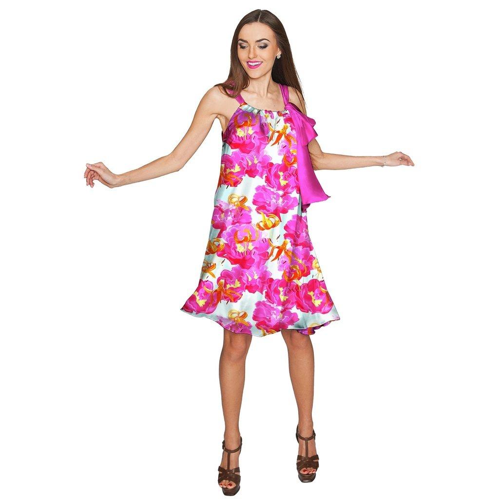 74f21363b8d Sweet Illusion Melody Pink Chiffon Summer Dress - Women
