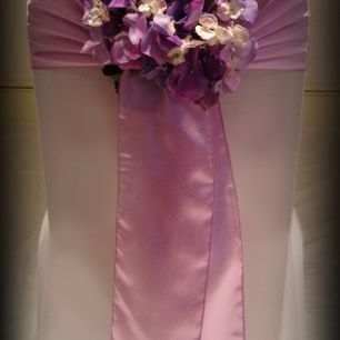 Chair Cover And Sash Hire Glasgow Dining Room Covers On Sale Lilac Satin Wedding South Lanarkshire