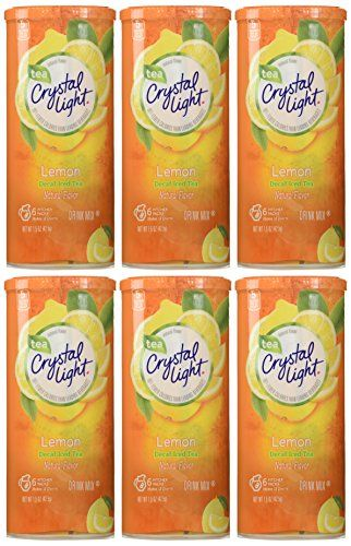 Crystal Light Lemon Decaf Iced Tea Natural Flavor Drink Mix 12quart Canister Pack Of 6 To View Further For This Item Flavored Drinks Iced Tea Mix Iced Tea