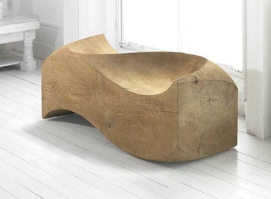 english oak garden love seat or bench