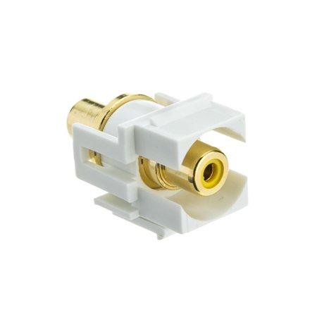 white RCA keystone coupler