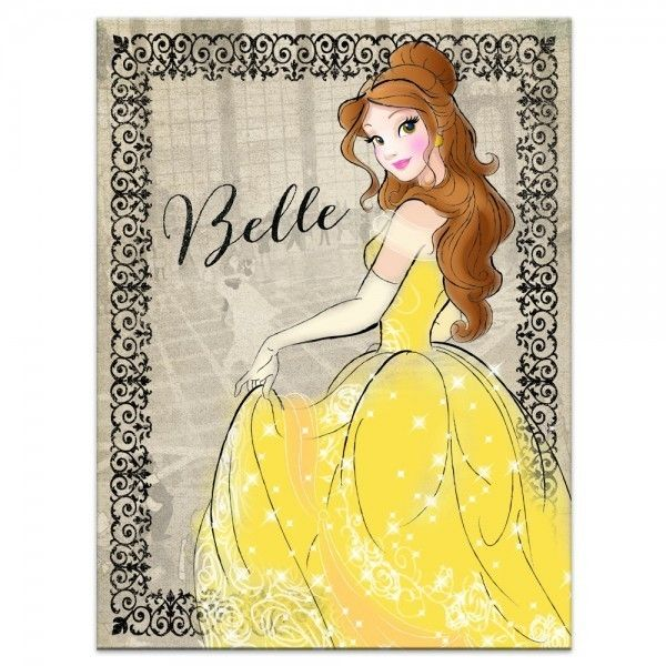 Belle Vintage Fashionista Found On Polyvore Featuring Home, Home Decor, Wall  Art, Vintage Wall Art, Princess Wall Art, Disney Princess Wall Art, Canvas  Wall ...