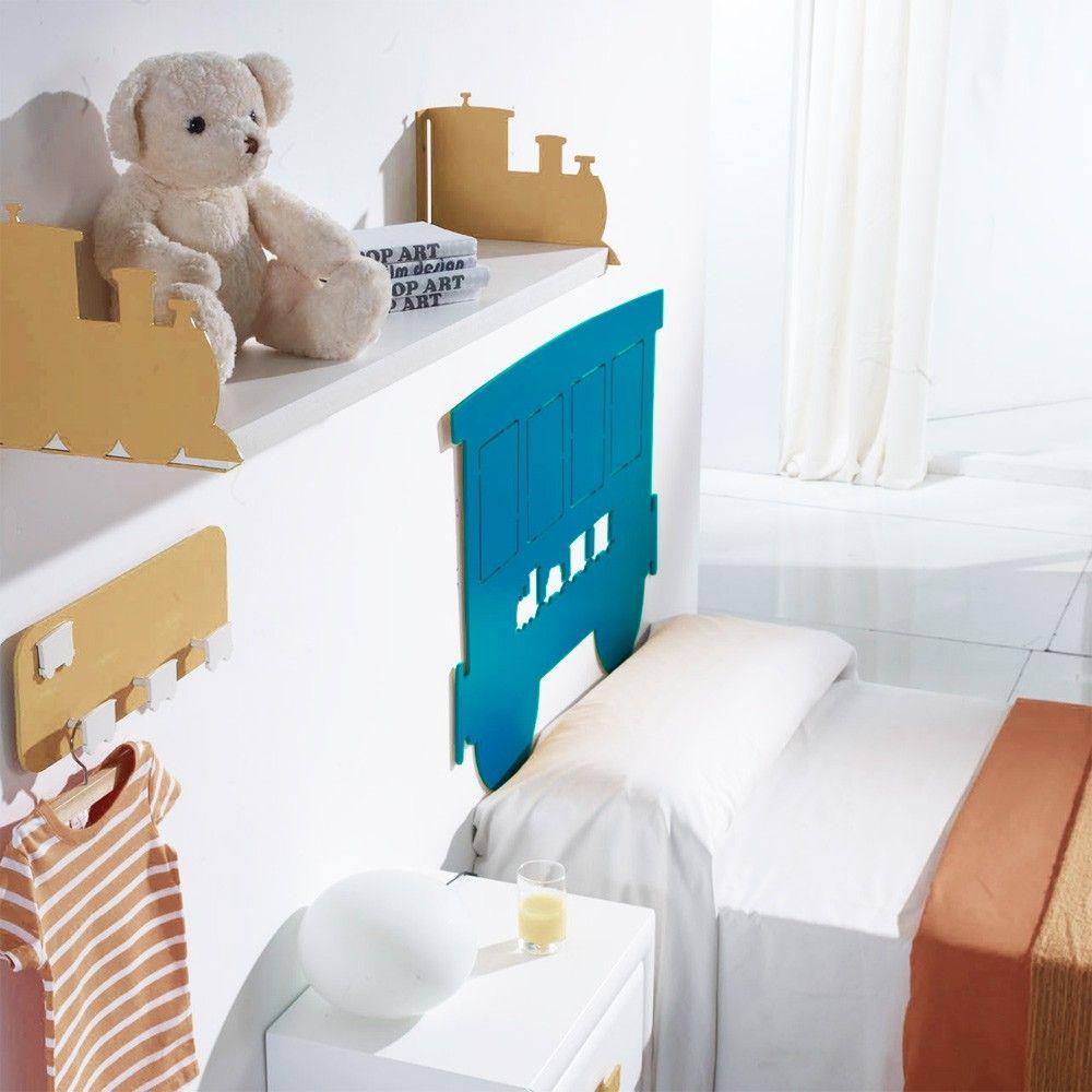 Cabecero cama infantil imaginaierro tren azul cabeceros - Camas tren infantiles ...