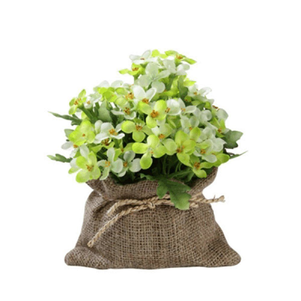 Plamblossom green in sack artificial flowers leaf artificial tree