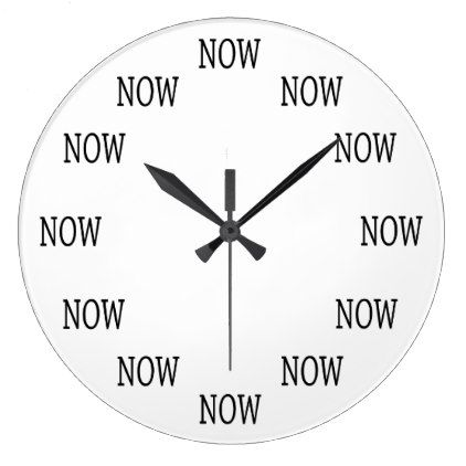 The Time is NOW wall clock | Zazzle.com | Diy clock wall, Cool clocks, Wall  clock