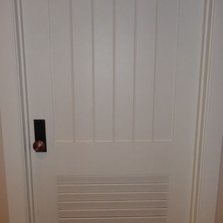 Supa Doors   V Groove With Louver I Like This Design Since It Incorporates  Functionality Of A Louver Door To Allow Ventilation In A Home A/c Unit  Area, ...