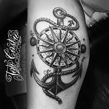 Arm Tattoos Anchor Compass Google Search Aman Pinterest