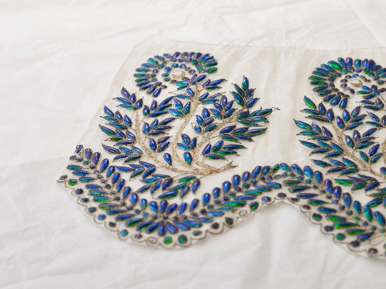 Beetle-wing embroidery V&A