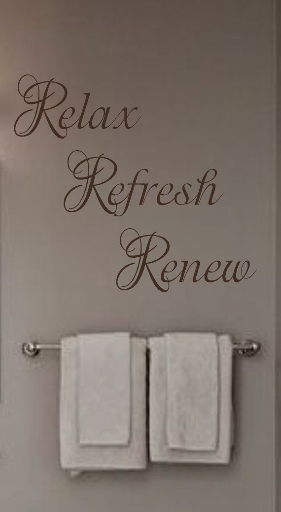 relax refresh renew vinyl wall decal bathroom by