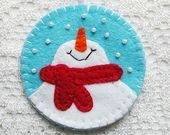 Snowman Christmas Ornaments, Snowman Decor, Felt Ornament, Snowman Figurine, Cute Snowman, Christmas Decor, Christmas Gift Idea - #Christmas #Cute #decor #Felt #Figurine #gift #Idea #Ornament #Ornaments #Snowman #cuteideas