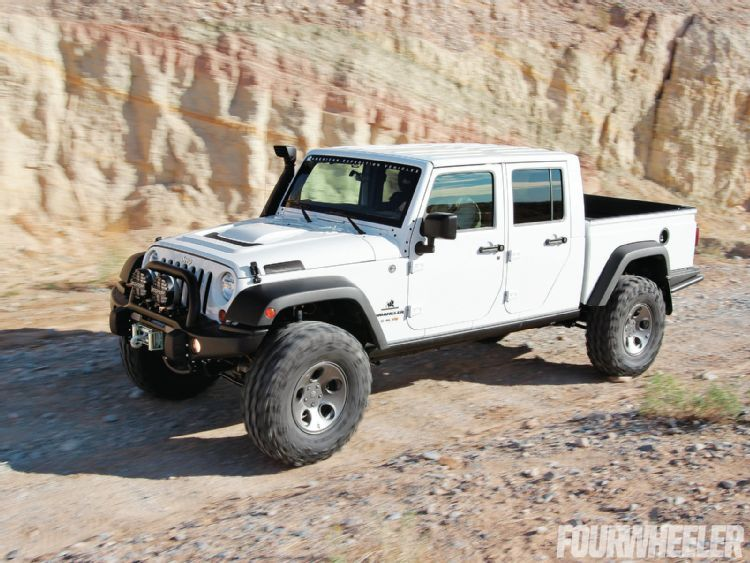 jeep wrangler pickup conversion rubicon4wheeler a closer look at aev 39 s new jeep pickup. Black Bedroom Furniture Sets. Home Design Ideas