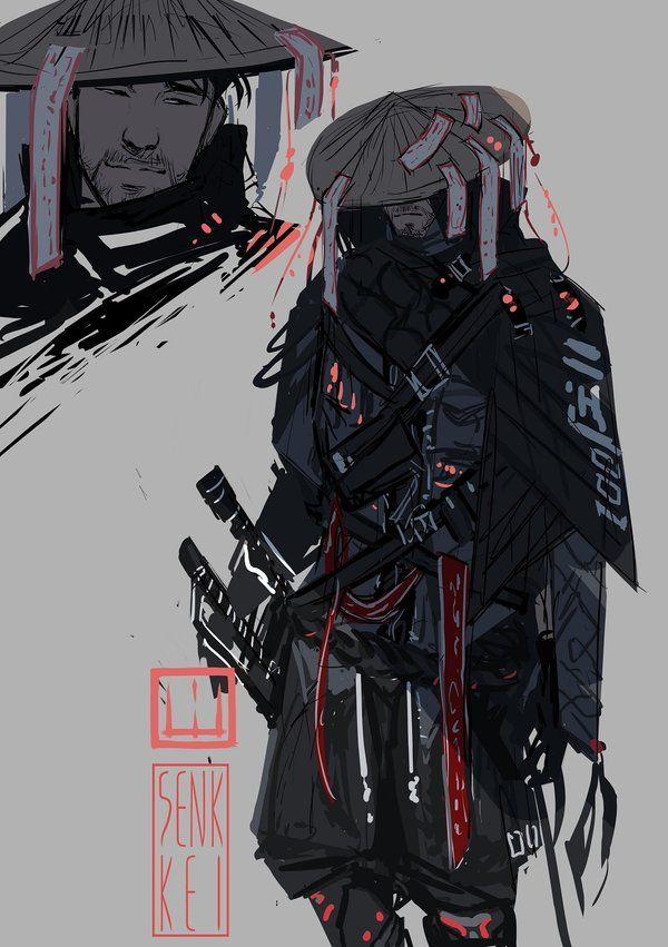 Cyber Samurai Kam Sketch By Senkkei Samurai Concept Ninja Art Samurai Art