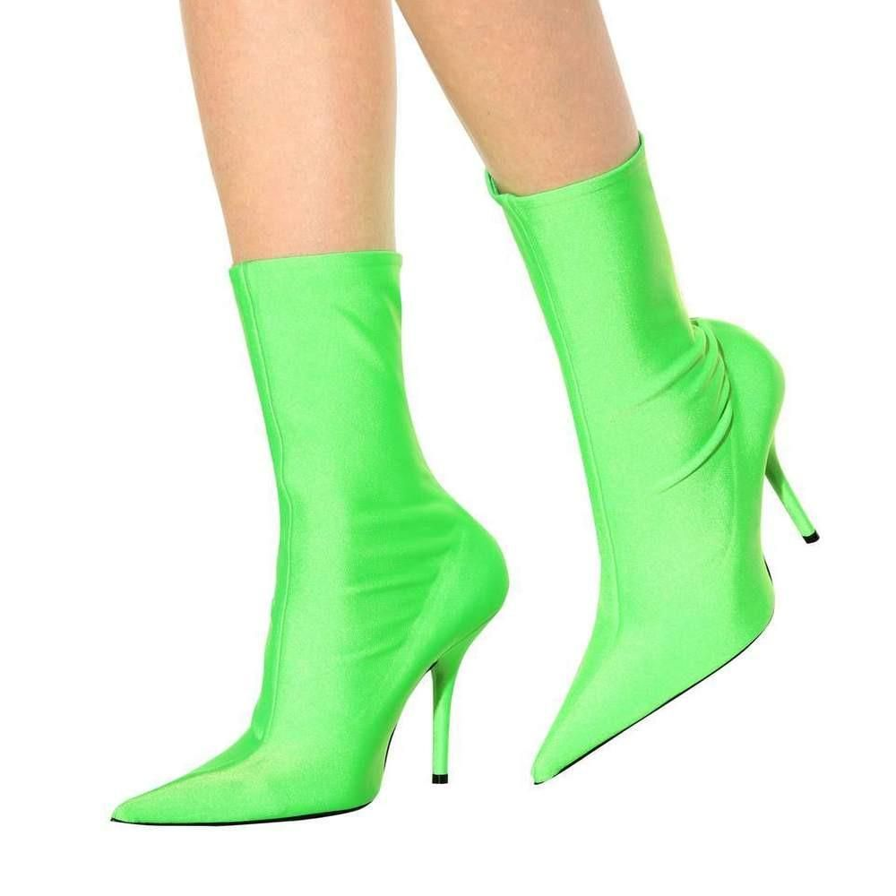 667f977ec870 Neon Green Stretchy Ankle Boot in 2019