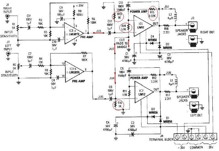 circuit design for audio amplifier