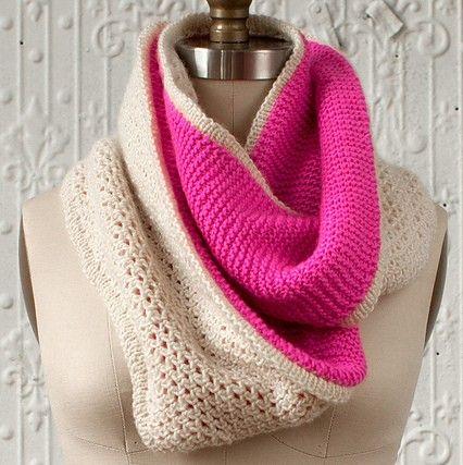 Manos Silk Blend Florido Infinity Scarf Knitting Pattern Pdf