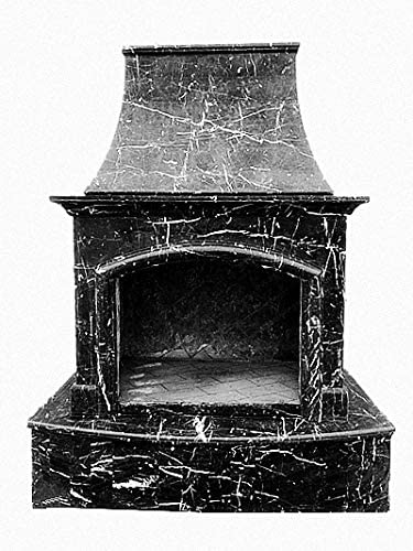 Amazon Com Mcm3 Outdoor Nature Stone Fireplaces 84 X63 Black Garden Outdoor In 2020 Cool Fire Pits