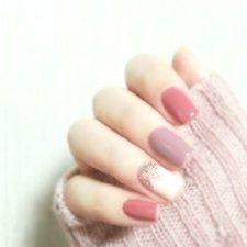 24 Stücke Jump Farbe Rosa Lila Vollacrylnägel Kurze Oval Gefälschte Nägel Mit Kleber …