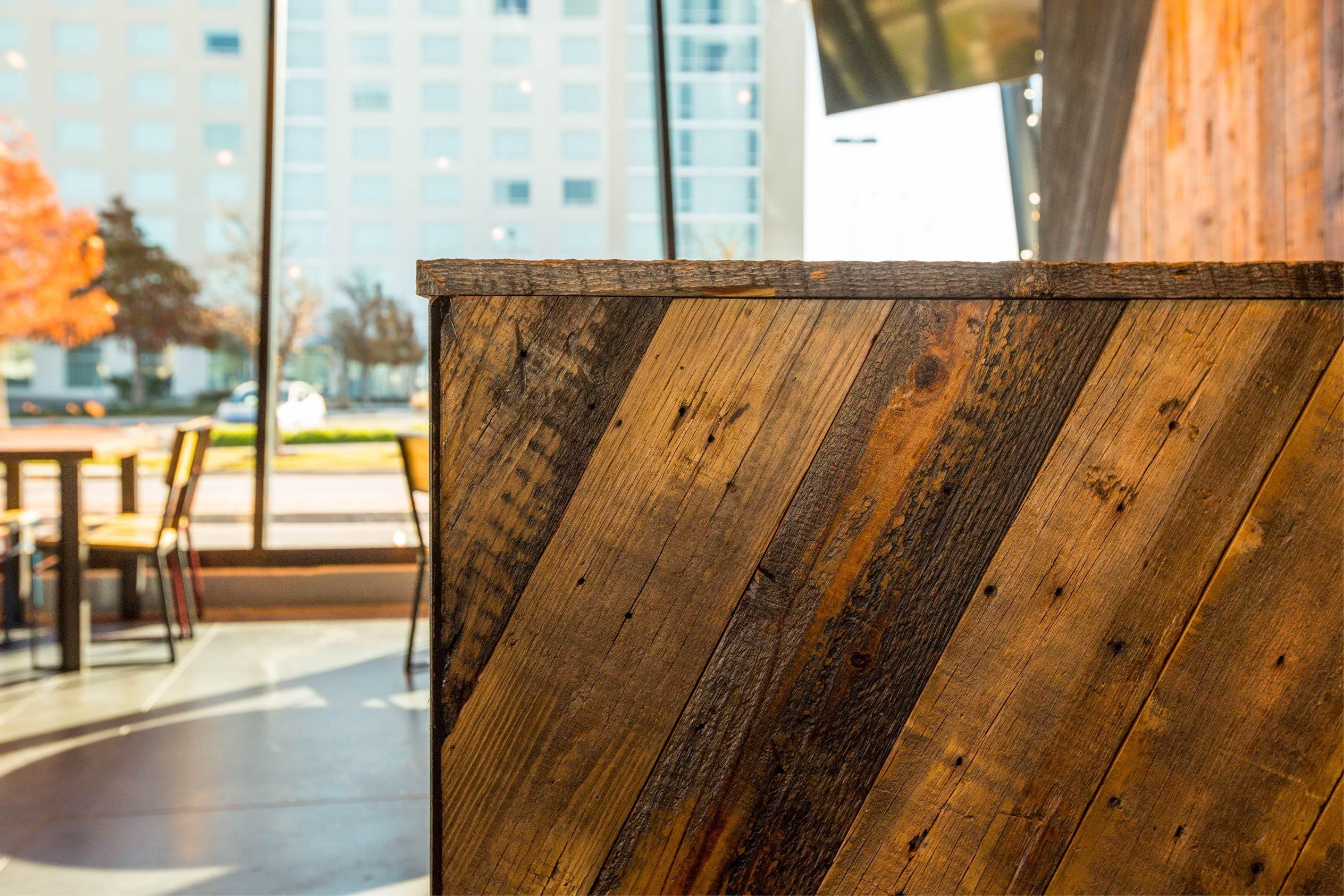 shake shack - dovetail custom woodwork #custom #millwork