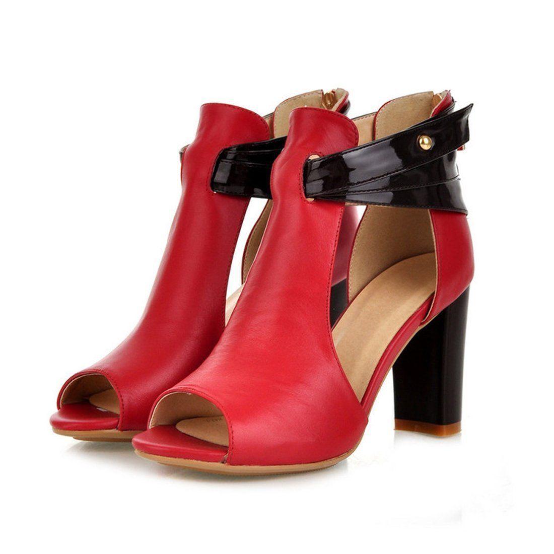 Amazon.com | Milesline Women's Peep Toe Open Side Bootie Fashion High Heel Sandals | Shoes