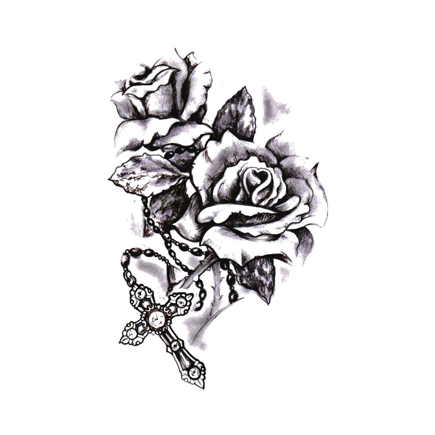 Live By Faith Temporary Tattoo Design