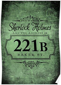 The names Sherlock Holmes Poster by starrygazer
