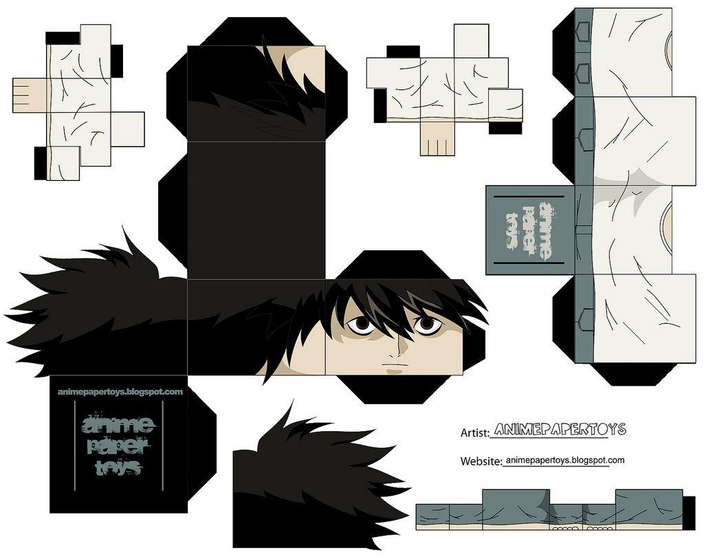 L Animepapertoys Cubecraft Anime