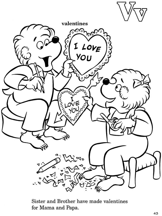 Welcome To Dover Publications Bear Coloring Pages Coloring Pages Valentine Coloring Pages
