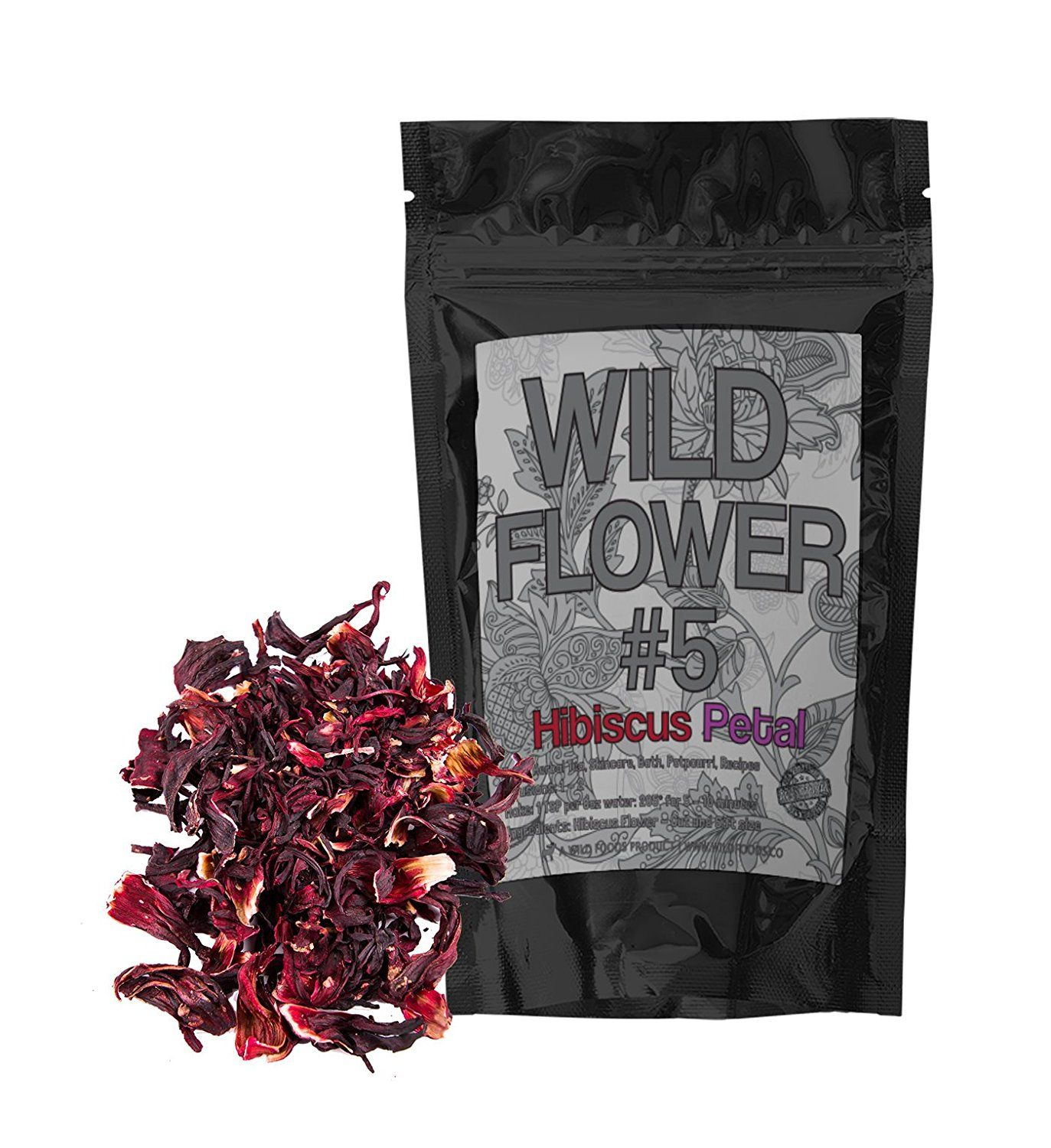 Dried hibiscus petal pieces organically grown perfect for organic dried whole hibiscus flowers perfect for homemade tea blends potpourri bath salts gifts crafts wild flower 4 4 ounce you can get additional izmirmasajfo Images