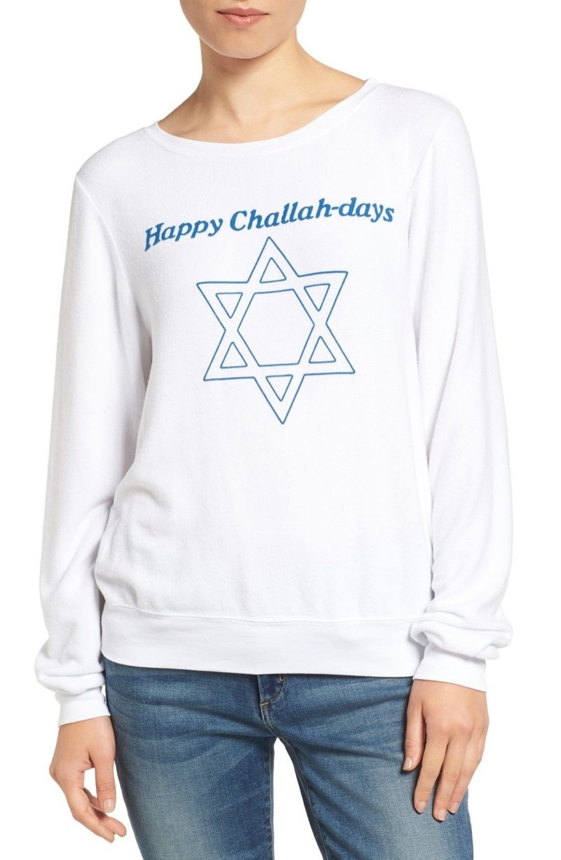 e74c4c961e Christmas Ready: 9 Holiday Sweaters from Wildfox. Wildfox Happy Challahdays  Pullover Sweater