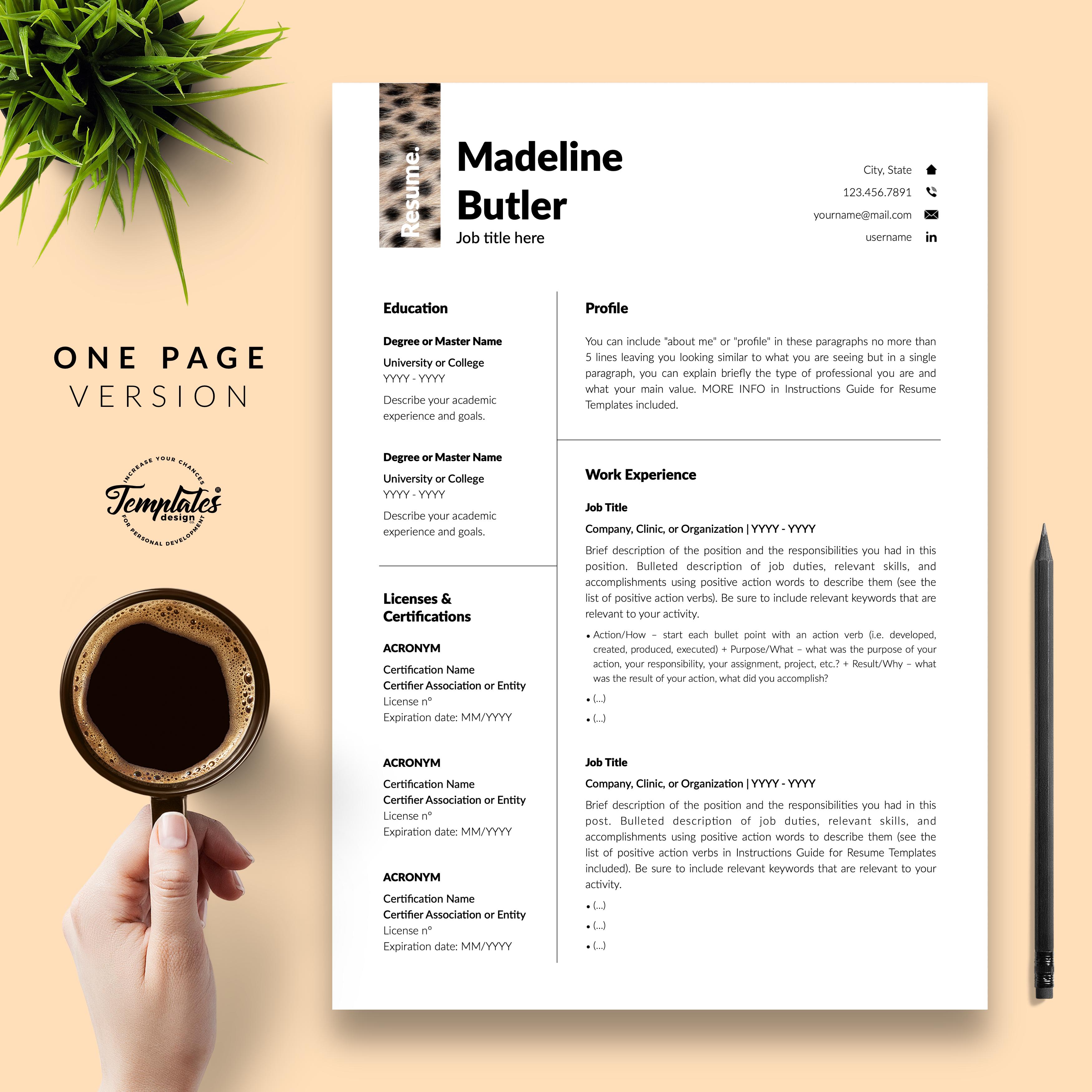 Professionelle Lebenslauf Vorlage Fur Microsoft Word Und Apple Pages Teacher Resume Template Resume Downloadable Resume Template
