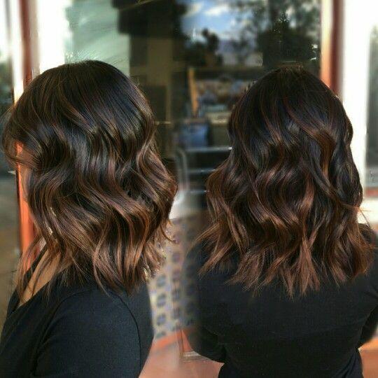 5 luxuriöse Caramel Balayage auf schwarzen Haaren sieht aus #caramelbalayage