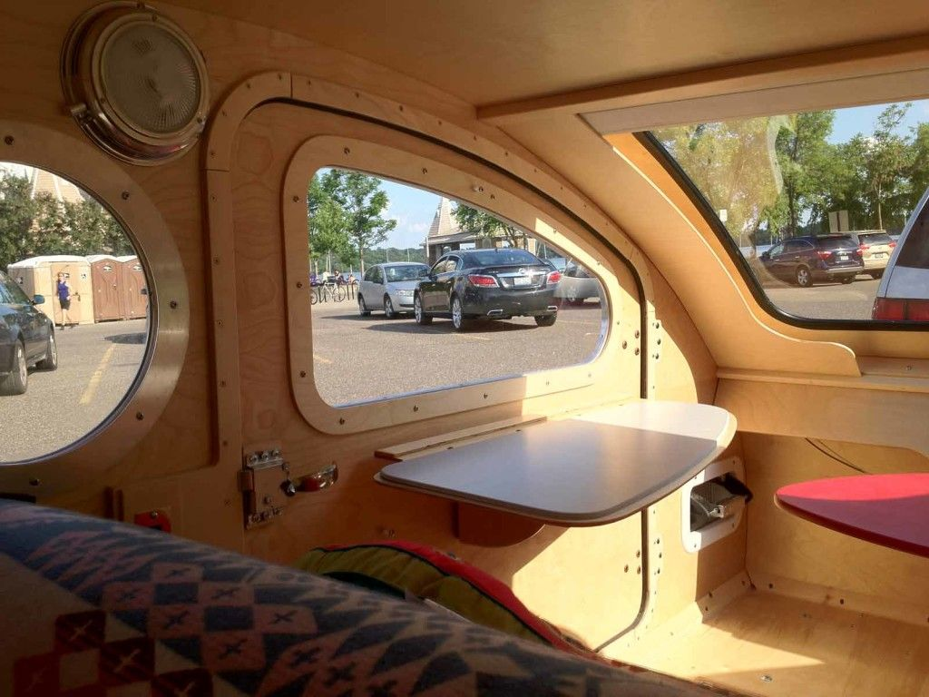 Vistabule Teardrop Trailer One Year Later Interior View