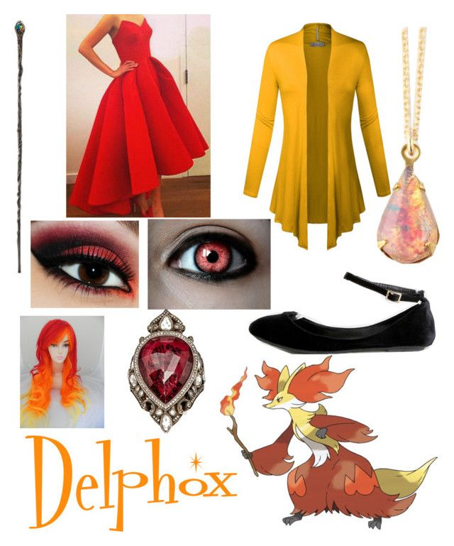 """""""Contest Entry: Delphox"""" by pokewolfgirl ❤ liked on Polyvore featuring Disney and Sevan Biçakçi"""