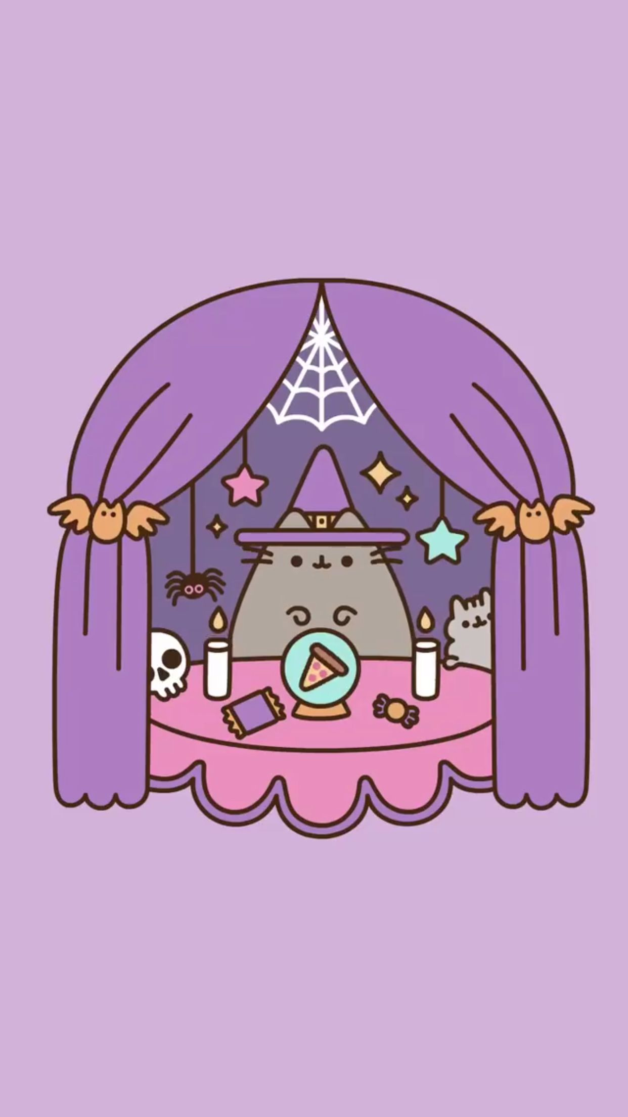 Pusheen Halloween Wallpaper Gatito Pusheen Imagenes De Pusheen Gatos Kawaii
