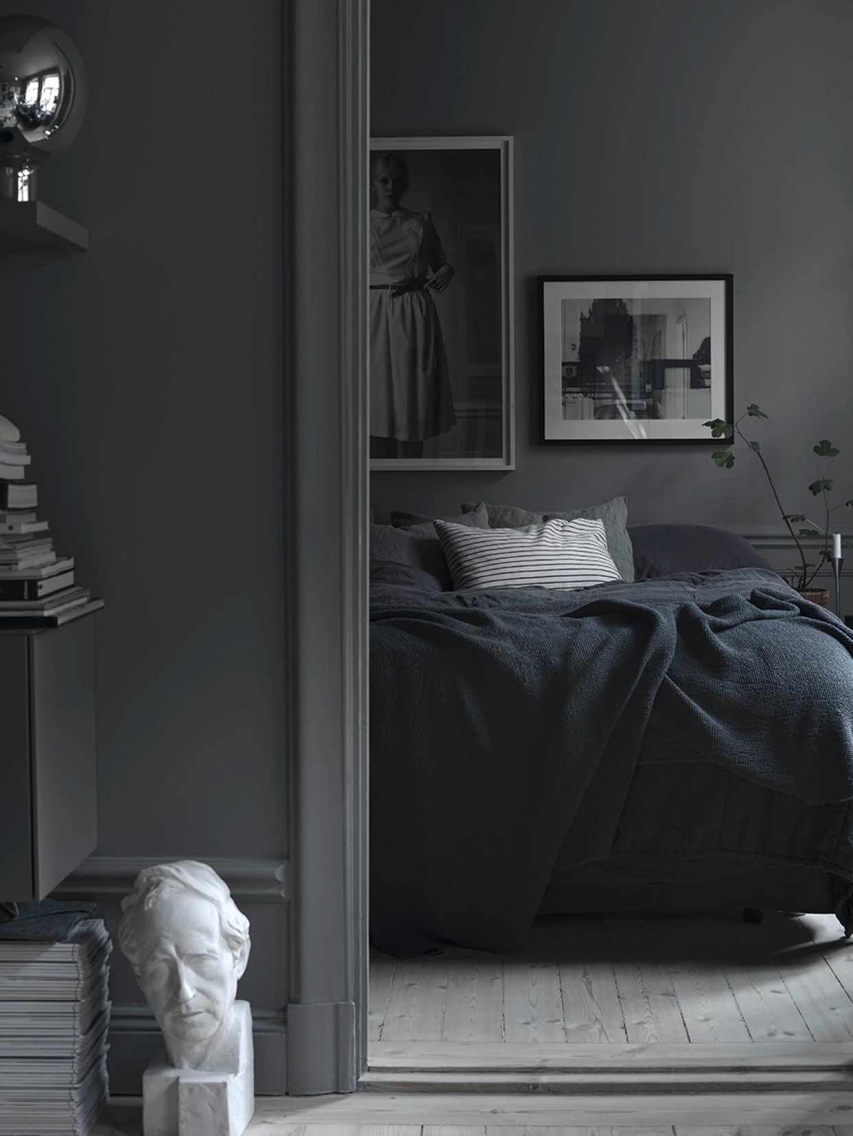 7 Interiors That Show How Cozy Gray Can Be Dark Bedroom White Bedrooms