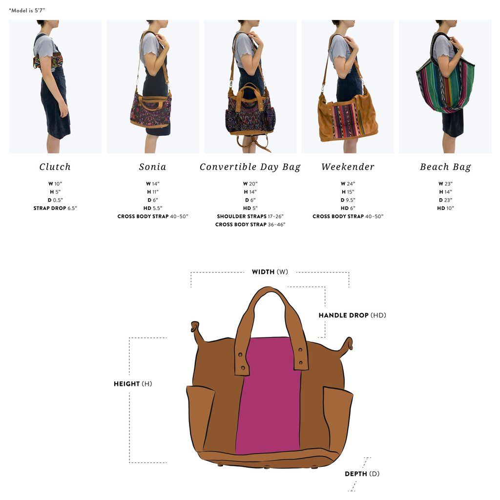 Related Image Day Bag Bags Size Chart