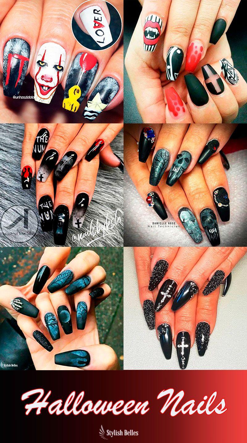 Stunning Coffin Shaped Halloween Nails Ideas # ...