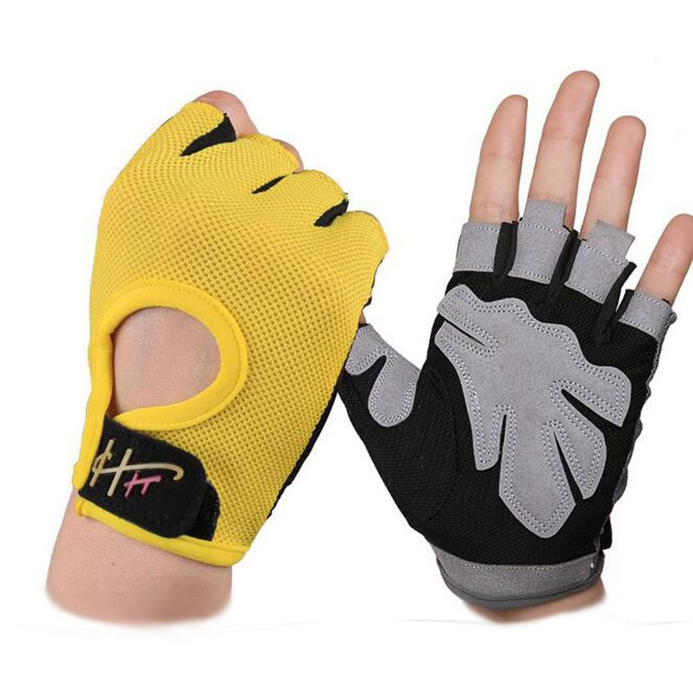 Sport Fitness Cycling Gym Half Finger Gloves Exercise Training Wrist Gloves
