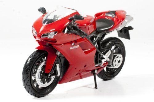 """#Ducati Motorcycle 1198 Red 1:12 by NewRay. 1:12 Scale Ducati 1198 (Red) Diecast Super Bike Motorcycle Model, Detailed design, Approx. 6"""" long, Diecast metal with plastic. Great collectible!"""